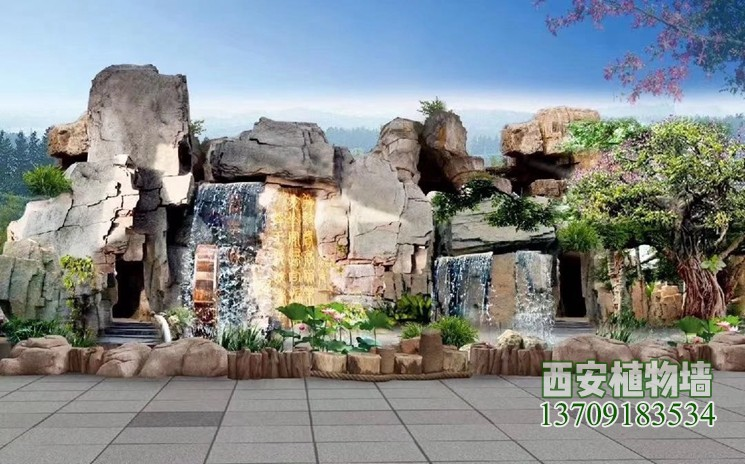 人造水泥塑石假山取代自然真石头假山